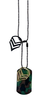 Жетон, цепочки, лычки  -  84962 WOODLAND MILITARY STAFF SGT NECKLACE