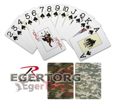 Игральные карты камуфляж  -  567 ROTHCO CAMOUFLAGE PLAYING CARDS