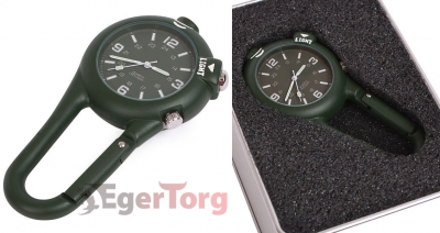 Часы-карабин  -  4500 CLIP WATCH W -  LED LIGHT