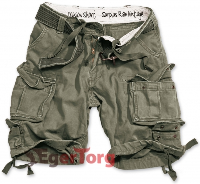 Шорты SURPLUS DIVISION SHORTS OLIVE WASHED