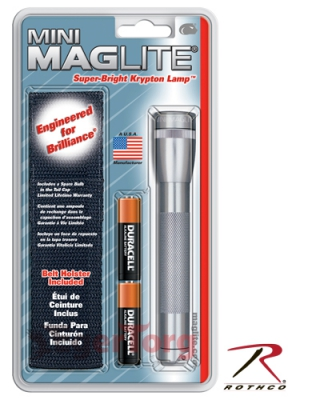 Фонарь Grey AA Mini-Maglite   Holster Combo Pack