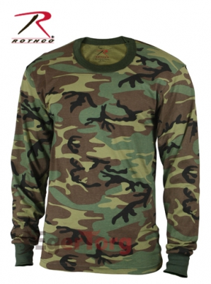 WOODLAND CAMO LONG SLEEVE SHIRT