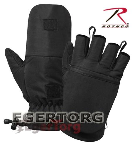 Снайперские перчатки-митенки из нейлона черные 4493 купить