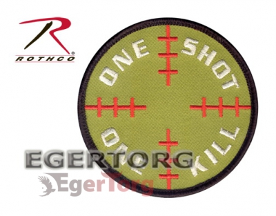 Нашивка  -  72186 ROTHCO SNIPER PATCH WITH HOOK BACK