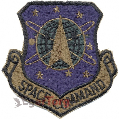 Нашивка приглушенная   Space Command     -  72102 U.S.A.F. Space Command (AFSPC) Subdued Patch