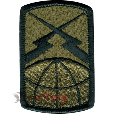 Нашивка плечевая   Finest of the First     -  72111 U.S. Army 160th Signal Brigade   Finest of the First    Subdued Patch
