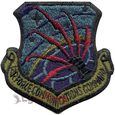 Нашивка приглушенная плечевая   Communications Command     -  72122 U.S.A.F. Communications Command Subdued Patch