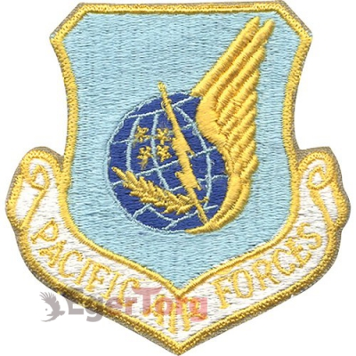 Нашивка плечевая   Pacific Air Forces     -  72112 U.S.A.F. Pacific Air Forces Color Patch