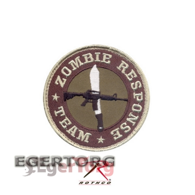 Нашивка плечевая  ZOMBIE RESPONSE TEAM  -  72195 ROTHCO ZOMBIE RESPONSE TEAM PATCH - HOOK BACKING