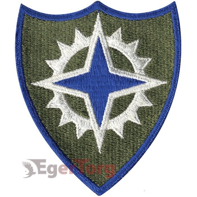 Нашивка плечевая   XVI Corps     -  72113 U.S. Army XVI Corps Color Patch