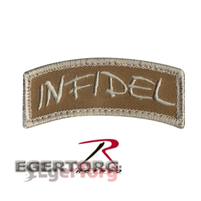 Нашивка плечевая   INFIDEL   -  72199 ROTHCO INFIDEL SHOULDER PATCH - HOOK BACKING