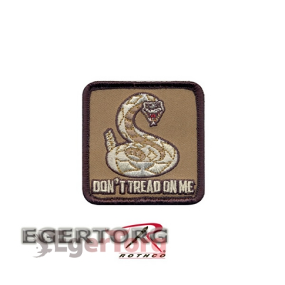 Нашивка плечевая  DON'T TREAD ON ME   -  72201 ROTHCO DON'T TREAD ON ME PATCH - HOOK BACKING