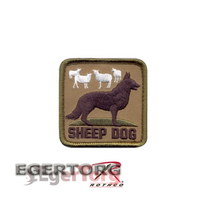 Нашивка плечевая  SHEEP DOG   -  72206 ROTHCO SHEEP DOG PATCH - HOOK BACKING