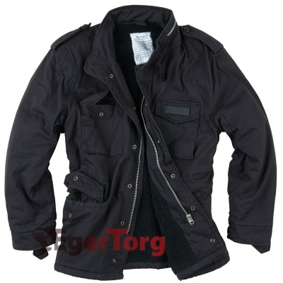 Куртка SURPLUS PARATROOPER WINTER JACKET BLACK WASHED