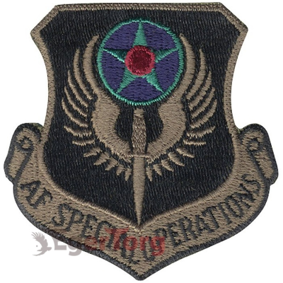 Нашивка приглушенная плечевая   Special Ops     -  72123 U.S.A.F. Special Ops Subdued Patch