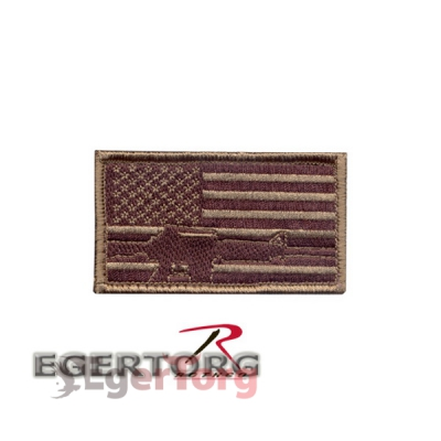 Нашивка плечевая  SUBDUED FLAG  -  RIFLE   -  72204 ROTHCO SUBDUED FLAG  -  RIFLE PATCH - HOOK BACKING