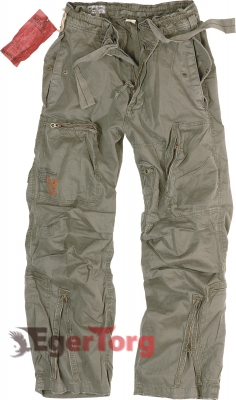 Брюки SURPLUS INFANTRY CARGO OLIVE WASHED