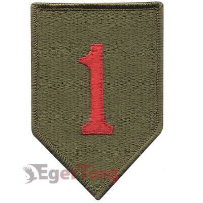 Нашивка плечевая   Big Red One     -  72131 U.S. Army 1st Infantry Division   Big Red One    Color Patch