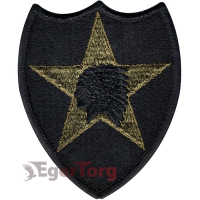 Нашивка плечевая   Indian Head     -  72133 U.S. Army 2nd Infantry Division   Indian Head    Subdued Patch