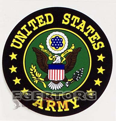 Наклейка ARMY  -  1226 U.S. ARMY SEAL DECAL