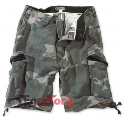 Шорты SURPLUS VINTAGE SHORTS WASHED NIGHTCAMO