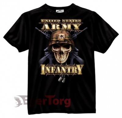 Футболка BLACK INK US INFANTRY SKULL