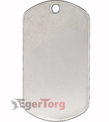 Жетон серебряный  -  8381 SHINY STAINLESS MILITARY DOG TAGS