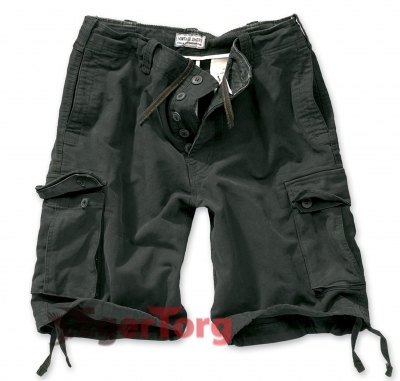 Шорты SURPLUS VINTAGE SHORTS BLACK WASHED