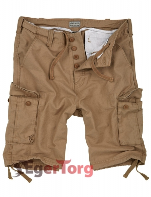 Шорты SURPLUS VINTAGE SHORTS BEIGE WASHED