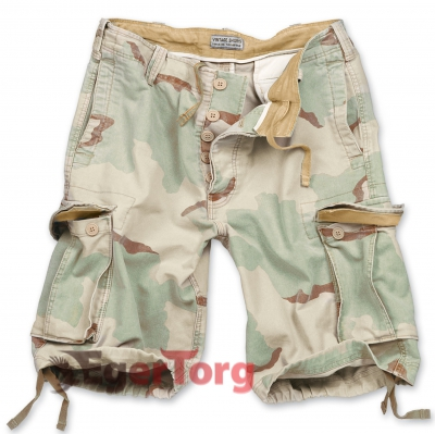 Шорты SURPLUS VINTAGE SHORTS WASHED 3-COLOR DESERT