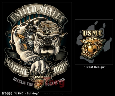 Футболка BLACK INK USMC BULLDOG