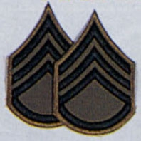 Нашивка штаб-сержанта  -  1634 STAFF SERGEANT SUBDUED CHEVRON PATCH