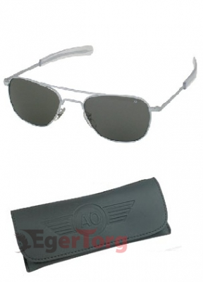 Очки American Optical Original Pilots Polarized Sunglasses 52mm Хромовая Оправа