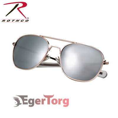 ОЧКИ ВВС США G.I. TYPE 52mm SUNGLASSES Gold / Mirror