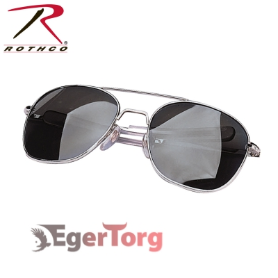 ОЧКИ ВВС США G.I. TYPE 52mm SUNGLASSES Chrome / Smoke