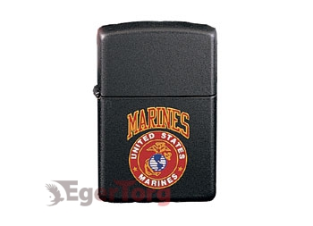 Зажигалка Zippo Black US Marines Lighter