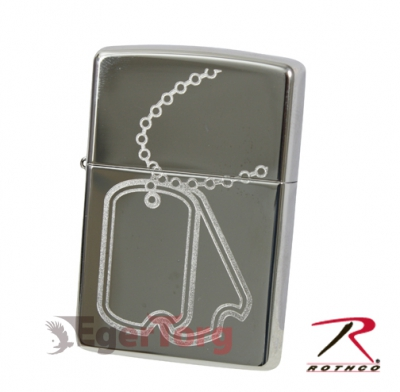 Зажигалка Zippo Dog Tag High Polish Chrome Lighter