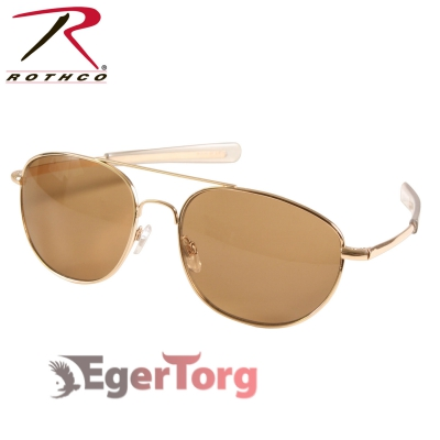 ОЧКИ ВВС США G.I. TYPE 52mm SUNGLASSES Gold / Brown