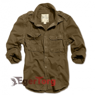 Рубашка 1/1 RAW VINTAGE SHIRT BROWN