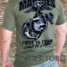 Футболка «MARINES - First to Fight, Last to Leave»