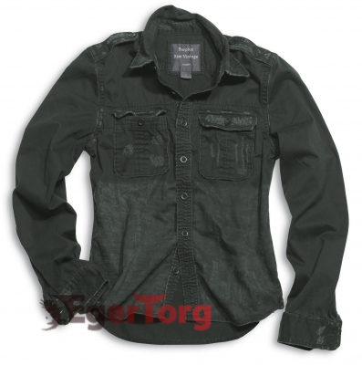Рубашка 1/1 RAW VINTAGE SHIRT BLACK WASHED