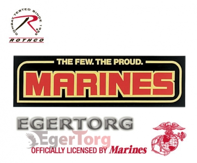 Наклейка на бампер MARINES  -  1364 THE FEW THE PROUD BUMPER STICKER