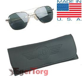 Очки American Optical Original Pilots Sunglasses 52mm Золотая Оправа