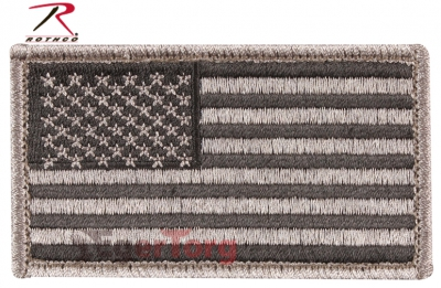 Нашивка флаг США  -  17780 FOLIAGE AMERICAN FLAG PATCH WITH HOOK     LOOP