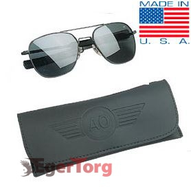 Очки American Optical Original Pilots Sunglasses 52mm Черная Оправа