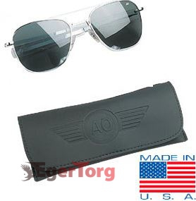 Очки American Optical Original Pilots Sunglasses 52mm Хромовая Оправа