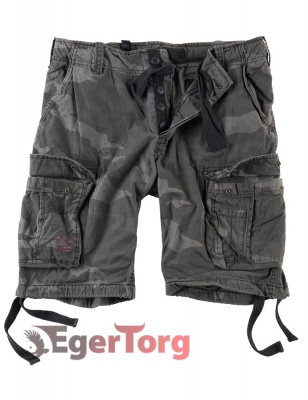 Шорты SURPLUS AIRBORNE VINTAGE SHORTS BLACKCAMO
