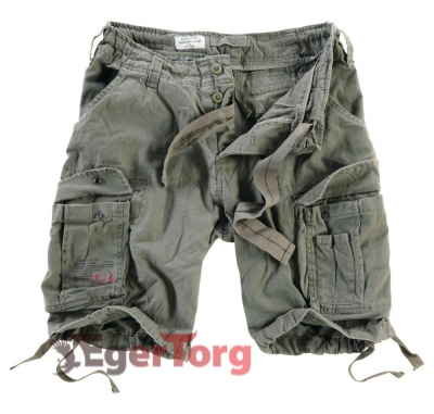 Шорты SURPLUS AIRBORNE VINTAGE SHORTS OLIVA WASHED