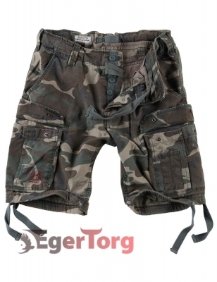 Шорты SURPLUS AIRBORNE VINTAGE SHORTS WOODLAND WASHED