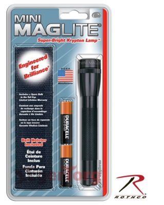 Фонарь Black AA Mini-Maglite   Holster Combo Pack